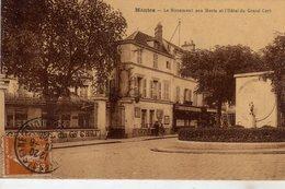 Mantes Le Monument Aux Morts Et Hotel Du Grand Cerf - Mantes La Jolie