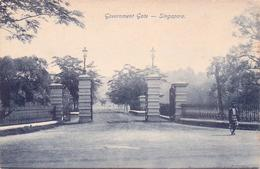 ALTE AK  SINGAPUR / Asien  - Government Gate - 1915 Ca. - Singapour