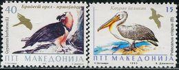 BB2086 Macedonia 1995 Bird Eagle And Tihu 2V MNH - Timbres