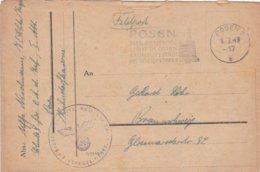 German Feldpost WW2: Schule Für Offz.Anw. Der Infanterie, I. Abt. In Posen P/m Posen 1.3.1943 - Letter Inside (DD24-52) - Militaria