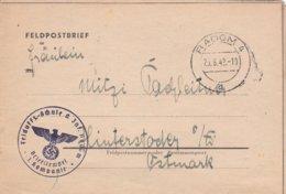 German Feldpost WW2: From Radom, 100 Km S Of Warszawa, Poland - Felduffz-Schule Der Infanterie In Radom - Militaria