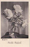 German Feldpost WW2: Flower Postcard From Heeres Uffz Schule In Potsdam P/m Potsdam 31.5.1941 (DD24-52) - Militaria