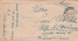German Feldpost WW2: Marinenachrichtenschule Waren P/m Waren (Müritz) 23.2.1944 - Letter Inside (DD24-52) - Militaria