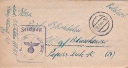 German Feldpost WW2: Marinenachrichtenschule Waren P/m 13.3.1944 - Letter Inside(DD24-52) - Militaria