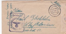 German Feldpost WW2: Censored Letter From Marinenachrichtenschule Waren P/m 23.1.1944 - Letter Inside. Censored By - Militaria