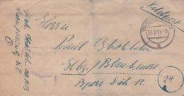 German Feldpost WW2: Marinenachrichtenschule Waren P/m Waren (Müritz) 29.1.1944 - Letter Inside(DD24-52) - Militaria