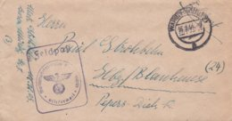 German Feldpost WW2: Marinenachrichtenschule Waren P/m Waren (Müritz)16.3.1944 - Cover Only (DD24-52) - Militaria