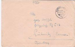 German Feldpost WW2: To Flugzeugführerschule C 17 In Pütnitz P/m Sangerhausen 22.9.1941 - Letter Inside (DD24-52) - Militaria