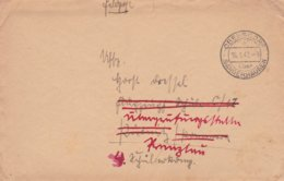 German Feldpost WW2: To Flugzeugführerschule C 17 In Pütnitz Then Rerouted P/m Obersdorf über Sangerhausen 16.1.1942 - Militaria