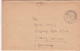 German Feldpost WW2: To Flugzeugführerschule C 17 In Pütnitz P/m Sangerhausen 9.1.1942 - Letter Inside (DD24-52) - Militaria