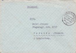 German Feldpost WW2: To Flugzeugführerschule C 17 In Pütnitz P/m Sangerhausen 27.10.1941 - Letter Inside (DD24-52) - Militaria