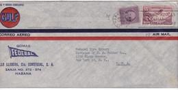 #9099 Cuba, Habana Firm Cover Air Mail Mailed 1947: Jose De La Luz Caballero - Scholar, Airplane, Special Pmk - Brieven En Documenten