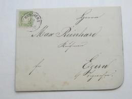 1874 , MÜNCHEN , Klarer Stempel Auf Drucksache ( Todesanzeige) - Bavaria