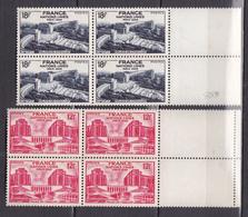 N° 818 Et 819 Assemblée Générale Des Naition Unies à Paris: Série En Blocs De 4 Timbres Neuf - France