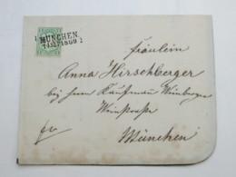 1869 , MÜNCHEN , Klarer Stempel Auf Drucksache ( Todesanzeige) - Bayern
