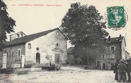 St Saint-Martin-en-Vercors (Drôme) - Place De L'Eglise, Mairie, Fontaine - Collection Pérouze - Carte N° 429 - Autres Communes