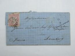 AUB , Nummernstempel Auf Brief - Bavaria