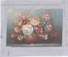 AC -B3414 - Jolie Peinture Sur Toile  Format  160x195mm ( Nature, Sujet, état ... Voir Scan) - Autres Collections