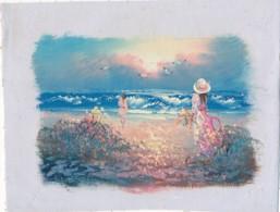 AC -B3415 - Jolie Peinture Sur Toile  Format Environ   175x230mm ( Nature, Sujet, état ... Voir Scan) - Autres Collections