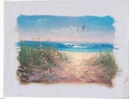 AC -B3417 - Jolie Peinture Sur Toile  Format Environ   175x230mm ( Nature, Sujet, état ... Voir Scan) - Autres Collections
