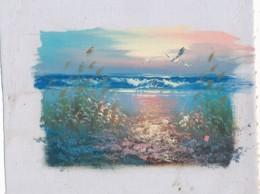 AC -B3421 - Jolie Peinture Sur Toile  Format Environ   180x222mm ( Nature, Sujet, état ... Voir Scan) - Autres Collections