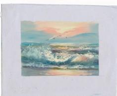 AC -B3422 - Jolie Peinture Sur Toile  Format Environ   180x222mm ( Nature, Sujet, état ... Voir Scan) - Autres Collections