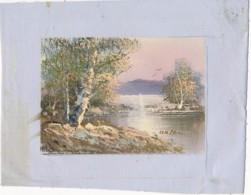 AC -B3423 - Jolie Peinture Sur Toile  Format Environ   180x222mm ( Nature, Sujet, état ... Voir Scan) - Autres Collections
