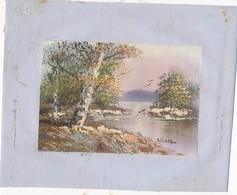 AC -B3424 - Jolie Peinture Sur Toile  Format Environ   190x245mm ( Nature, Sujet, état ... Voir Scan) - Autres Collections