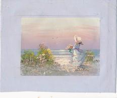 AC -B3425 - Jolie Peinture Sur Toile  Format Environ   190x245mm ( Nature, Sujet, état ... Voir Scan) - Autres Collections