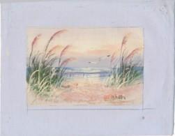 AC -B3426 - Jolie Peinture Sur Toile  Format Environ   190x245mm ( Nature, Sujet, état ... Voir Scan) - Autres Collections