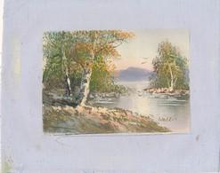 AC -B3427 - Jolie Peinture Sur Toile  Format Environ   190x245mm ( Nature, Sujet, état ... Voir Scan) - Autres Collections