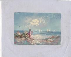 AC -B3428 - Jolie Peinture Sur Toile  Format Environ   190x245mm ( Nature, Sujet, état ... Voir Scan) - Autres Collections