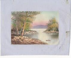 AC -B3429 - Jolie Peinture Sur Toile  Format Environ   190x245mm ( Nature, Sujet, état ... Voir Scan) - Autres Collections