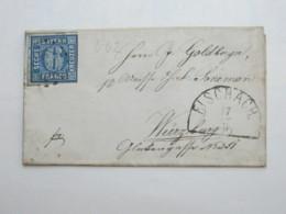 FISCHBACH  , Nummernstempel Auf Brief - Bavaria