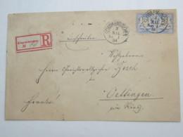 1884 , SCHWABMÜNCHEN , Klarer Stempel Auf Einschreiben - Bavaria