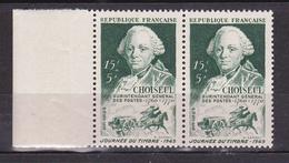 N° 828 Journée Du Timbre Portrait D'Etienne-François De Choiseul: Une Paire De 2 Timbres Neuf - France