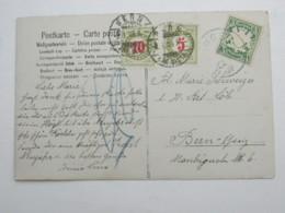 1907 , Karte Nach Bern Mit Nachportomarken - Bayern