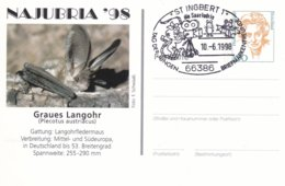 Germany Postal Stationary Bedeutende Frauen W/print Najubria 98 P/m St. Ingbert 1998 Tag Der Jungen (DD24-47) - Expositions Philatéliques