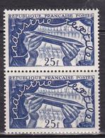N° 881  Exposition Textile Internationale De Lille: Métier à Tisser: Une Paire De De 2 Timbres Neuf - Unused Stamps