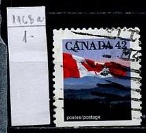 Canada - Kanada 1991 Y&T N°1222b - Michel N°1268Do (o) - 42c Drapeau National - 1952-.... Règne D'Elizabeth II