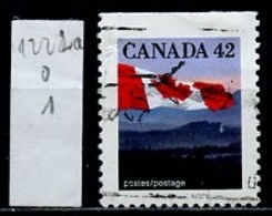 Canada - Kanada 1991 Y&T N°1222h - Michel N°1268Du (o) - 42c Drapeau National - 1952-.... Règne D'Elizabeth II