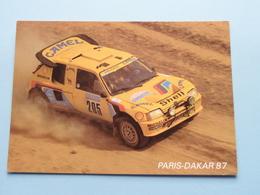 PARIS - DAKAR 87 > PEUGEOT 205 Turbo 16 > 1. Vatanen / Giroux > 5. Mehta / Doughty ( Zie / Voir Photo ) ! - Rallyes