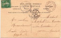 5  ---  33  Convoyeur-ligne   ST CIERS-LALANDE A BORDEAUX    Semeuse - Poststempel (Briefe)