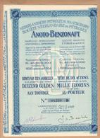 """ACTION De 100 Florins  """" ANOTO-BENZONAFT """"  LA HAYE Avril 1922  Pays Bas N.P.M.   Avec 20 Coupons - Actions & Titres"""