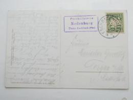 1910 , Posthilfsstelle   MADENBURG , Klarer Stempel  Auf Ansichtskarte Des Ortes - Bavaria