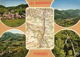 LES BARONNIES PYRENEES  Plan + Multivues RV - Cartes Géographiques