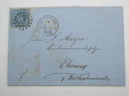 1853 , Nürnberg , Nummernstempel Auf Brief - Bavaria
