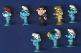 LOT  De 8  Figurines Schtroumpf  Ventouse   (TTB état Poids 25 Gr ) - Smurfs