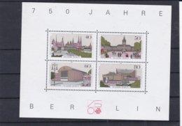 Berlin 750 Jahre Berlin Souvenir Sheet MNH/**    (G30A) - Blocks & Sheetlets