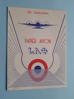 25 Enveloppes PAPIER AVION + ( Zie / Voir Photo ) Format PK / CP ! - Buvards, Protège-cahiers Illustrés